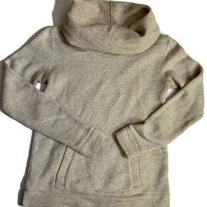 J. Crew Sweaters - Wool blend Sweater Cowl Neck pocket XXS Oatmeal